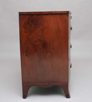 Antique Early 19th Century mahogany bowfront chest with slide