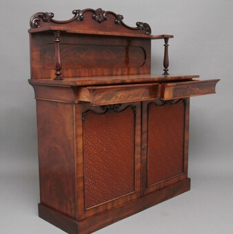 Antique 19th Century flame mahogany chiffonier