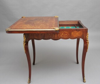 Antique 19th Century Kingwood card table