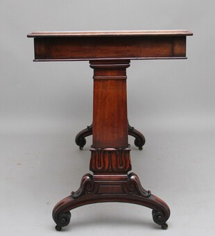 Antique Early 19th Century mahogany library table