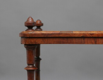 Antique 19th Century burr walnut Canterbury