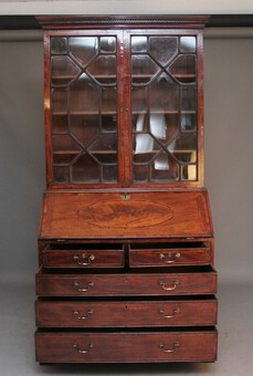Antique 18th Century mahogany bureau bookcase