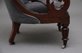 Antique 19th Century mahogany library armchair