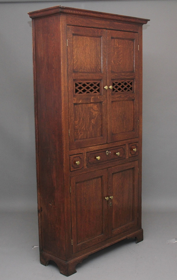 Antique Early 19th Century oak food cupboard