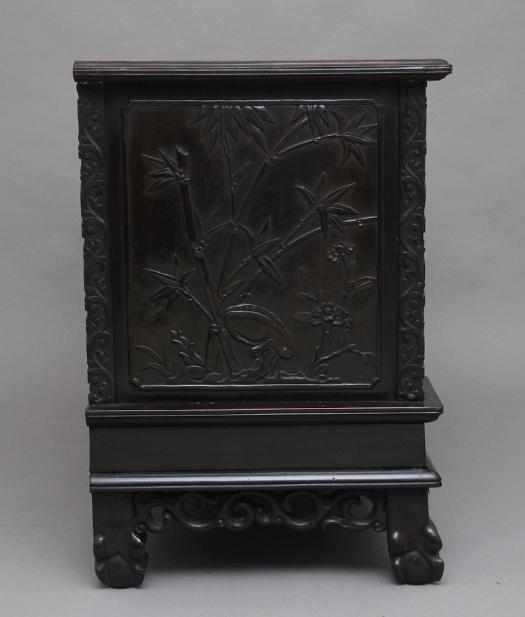 Antique 19th Century Chinese carved cabinet