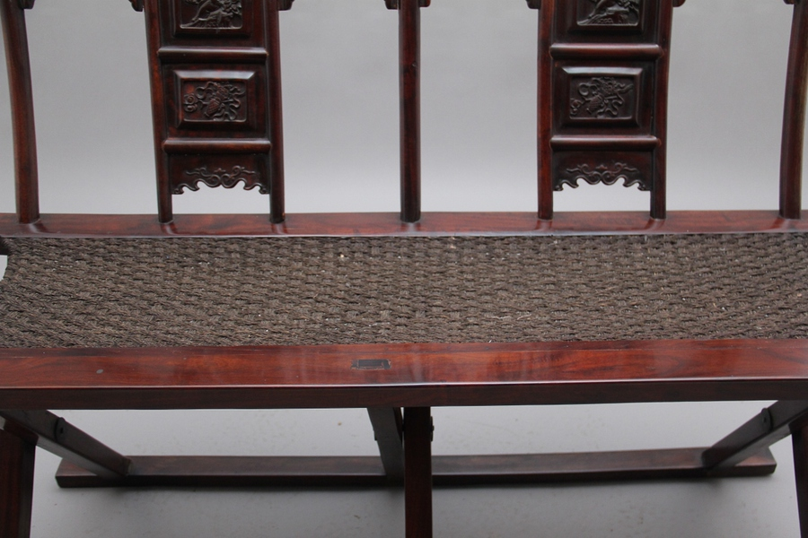 Antique Rare early 20th Century Chinese officials folding chair