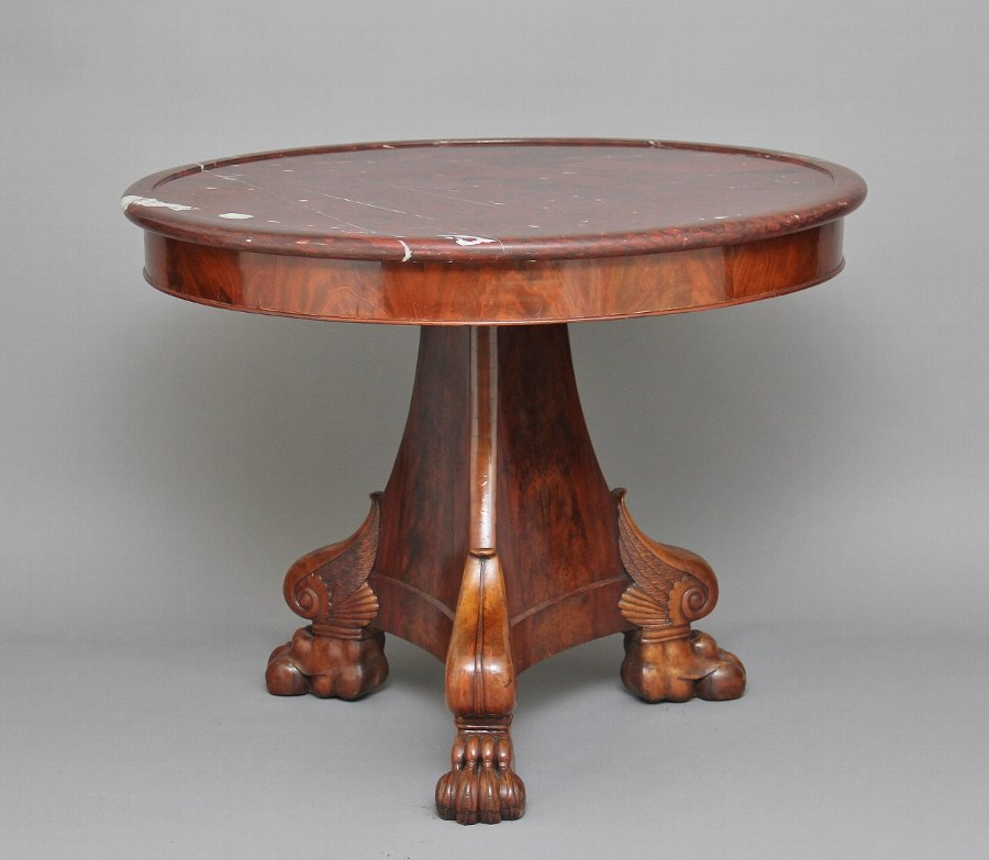 19th Century mahogany gueridon table
