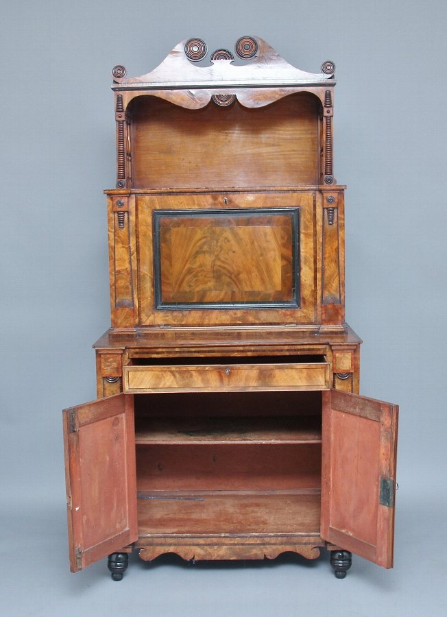 Antique 19th Century mahogany escritoire