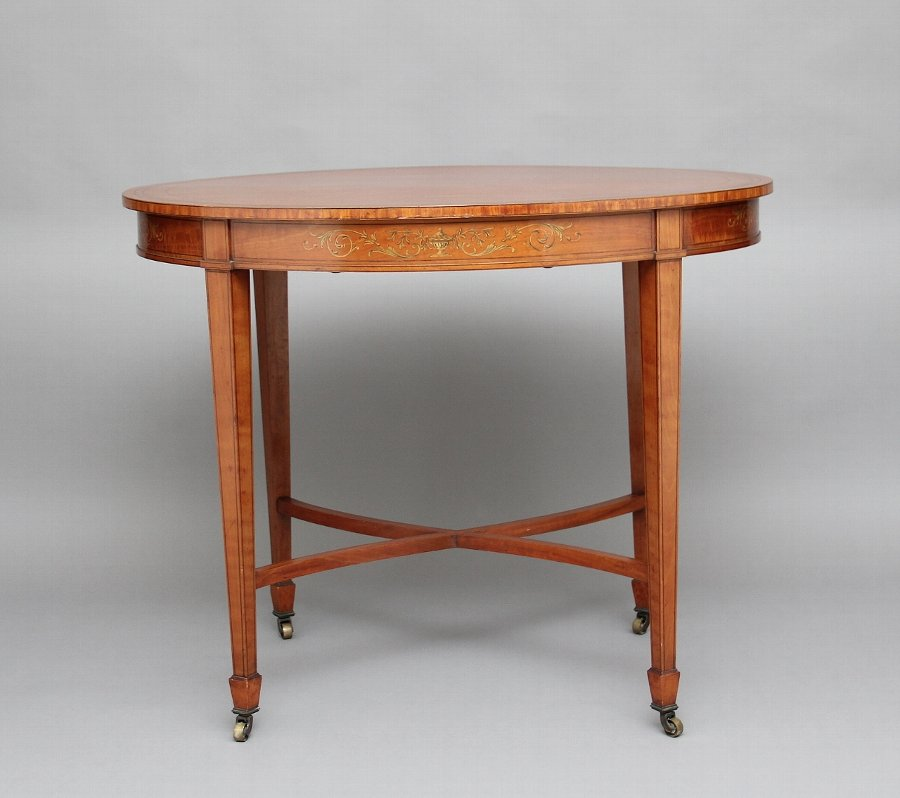19th Century satinwood center table