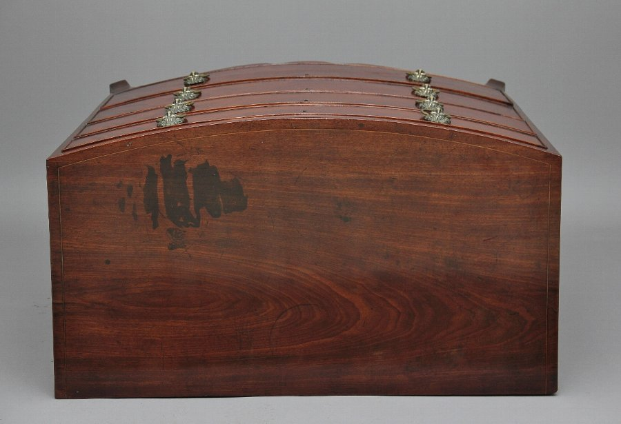 Antique Early 19th Century mahogany bowfront chest