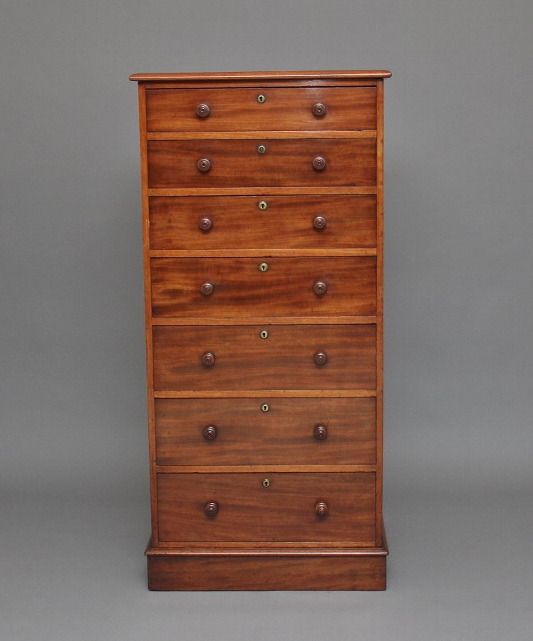 19th Century seven drawer mahogany chest