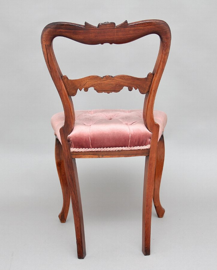 Antique A set of six 19th Century rosewood dining chairs