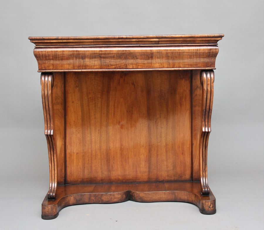 Antique 19th Century continental walnut console table