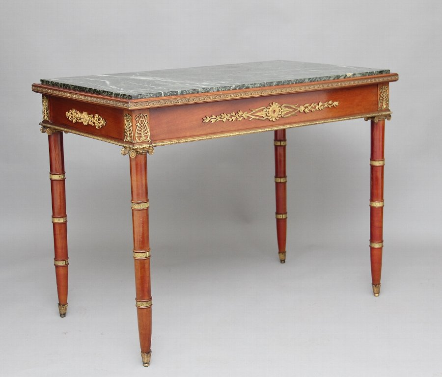19th Century mahogany and ormolu mounted center table