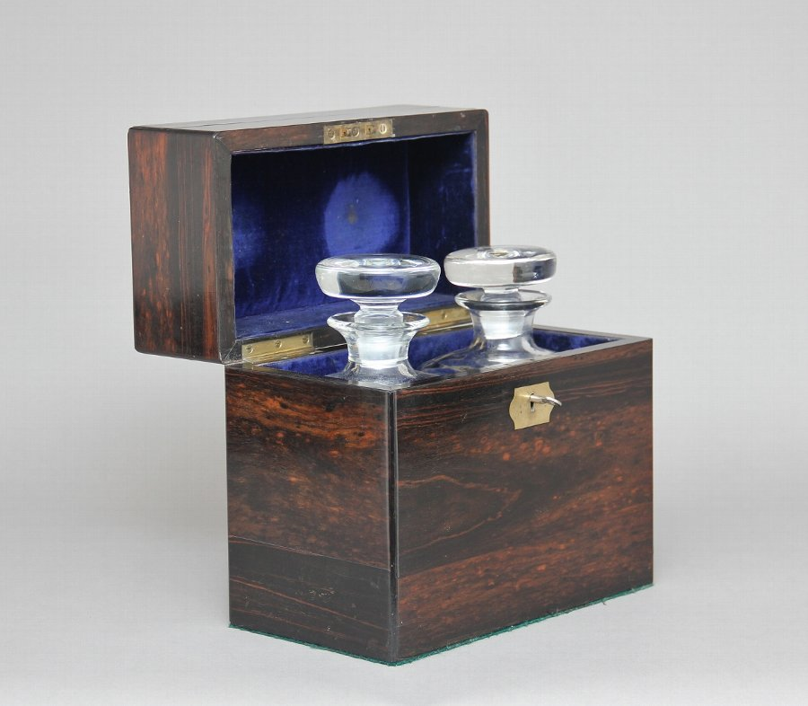 19th Century coromandel decanter box