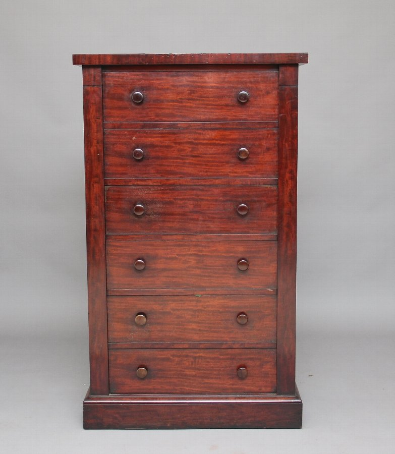 19th Century mahogany Wellington chest