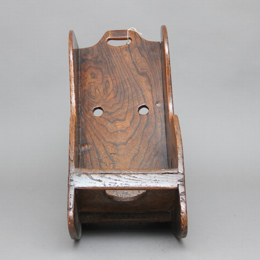 Antique 18th Century elm Child's rocking chair