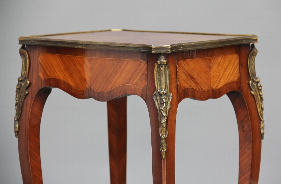 Antique 19th Century French Kingwood side table
