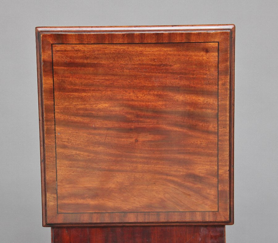 Antique Early 19th Century mahogany wine cooler cabinet