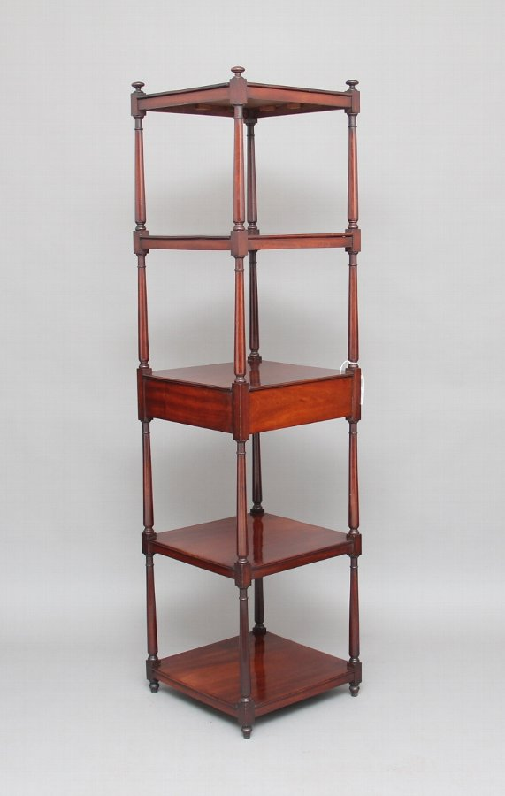 Early 19th Century mahogany five tier whatnot