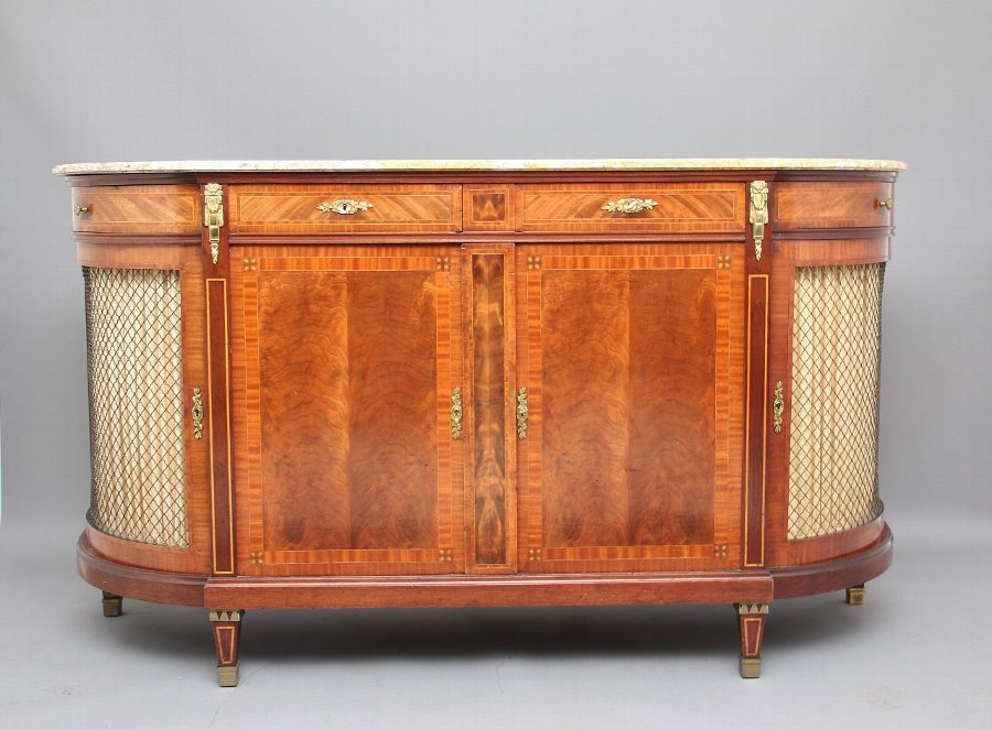 19th Century French mahogany cabinet