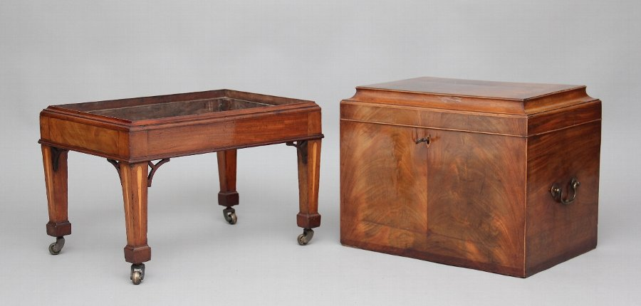 Antique Early 19th Century mahogany cellarette