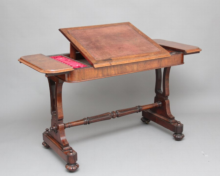 19th Century rosewood writing table
