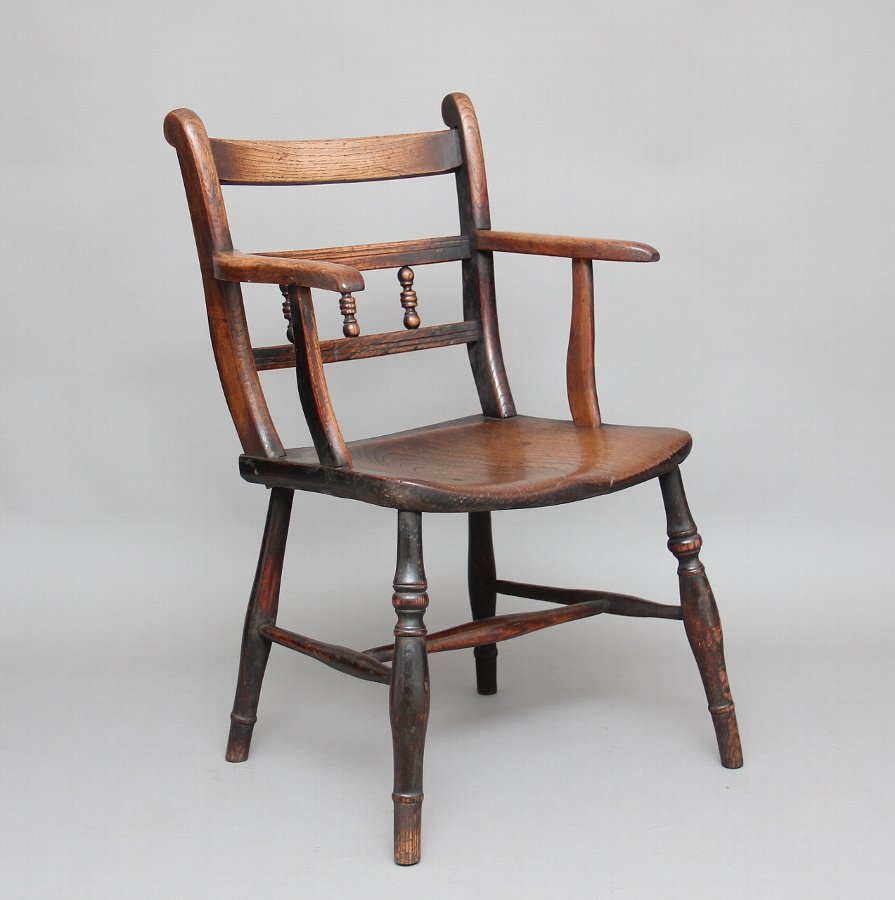 19th Century elm & ash armchair