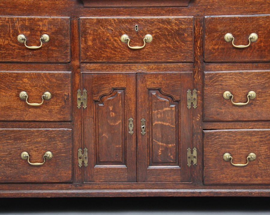 Antique 18th Century oak housekeepers cupboard