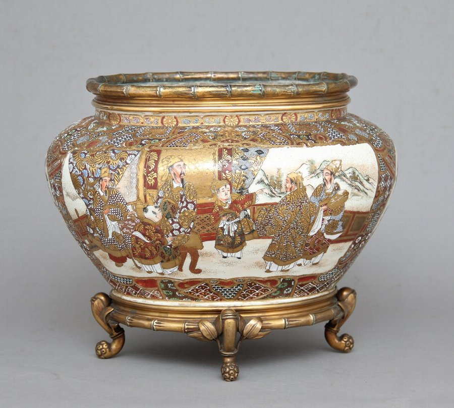 19th Century Japanese satsuma and ormolu mounted bowl