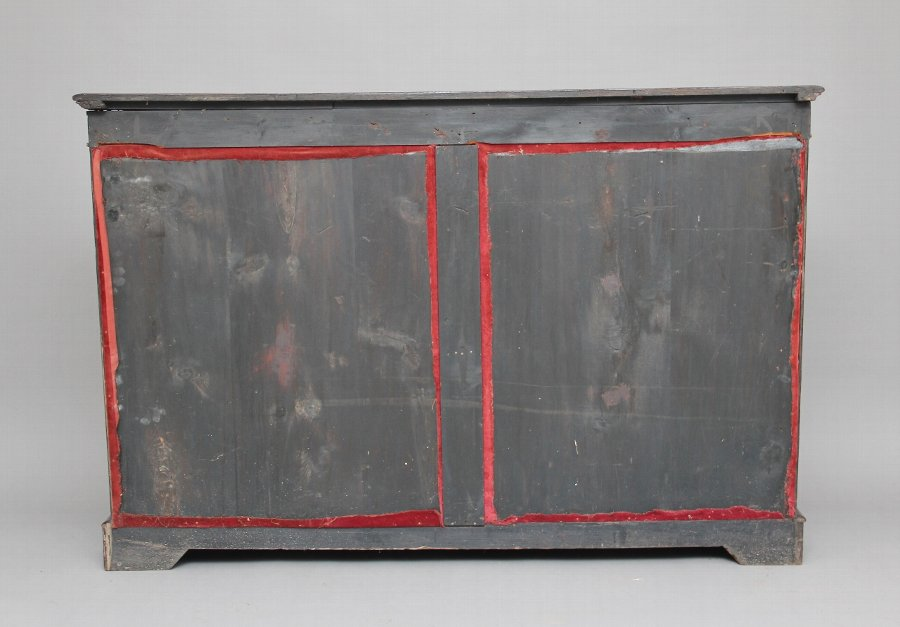 Antique 19th Century ebonised and inlaid credenza