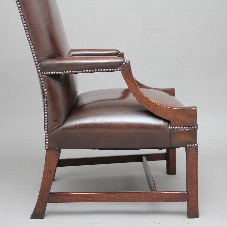 Antique Early 20th Century mahogany library chair