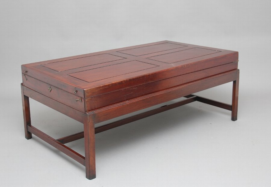 19th Century mahogany bagatelle / coffee table