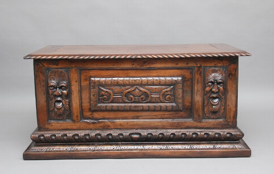 Early 19th Century carved Italian cassone