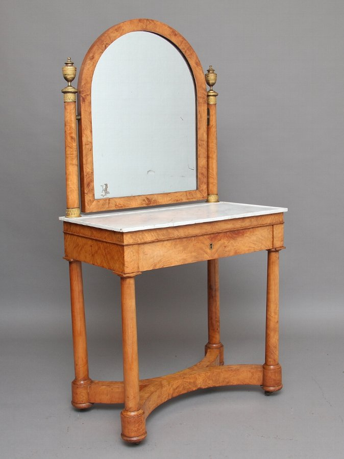 19th Century  burr elm dressing table