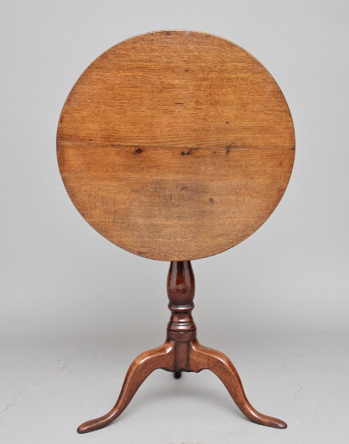 Antique 18th Century oak tripod table