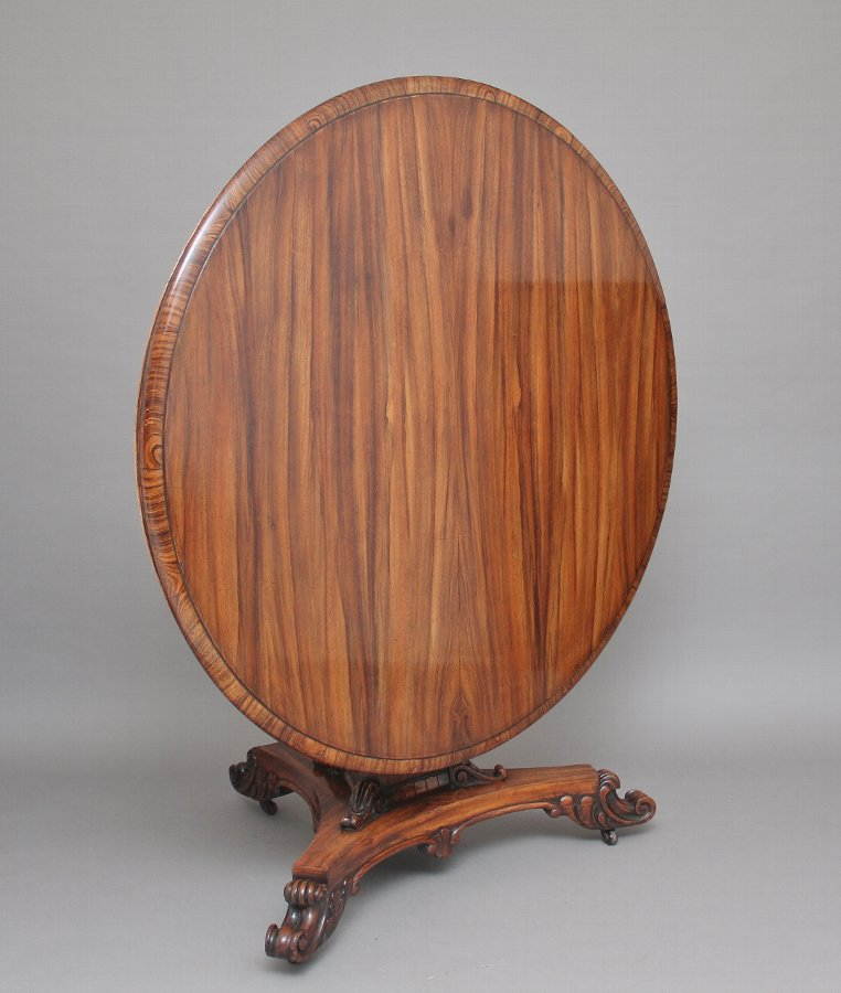 Early 19th Century zebra wood centre table