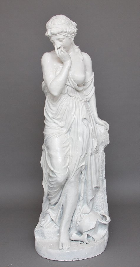 19th Century life size cast iron statue
