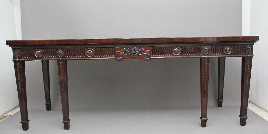 Large 18th Century mahogany serving table