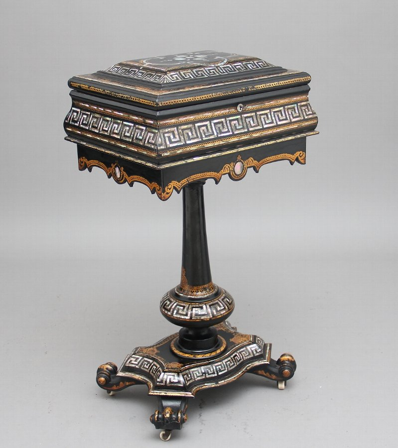 19th Century papier-mache work table