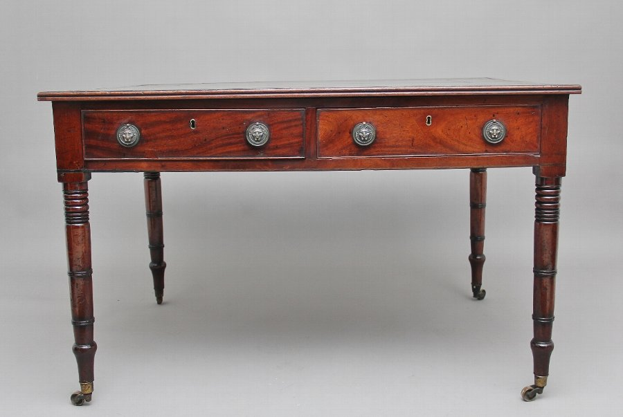 Antique Early 19th Century mahogany partners desk