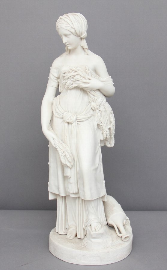 19th Century parian figure of Ruth