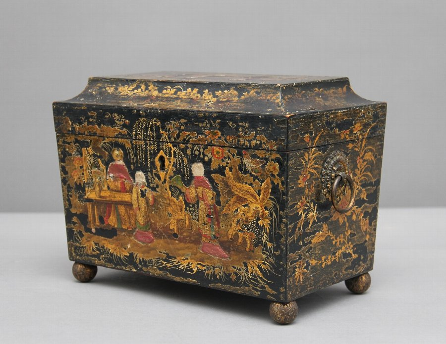 18th Century chinoiserie tea caddy