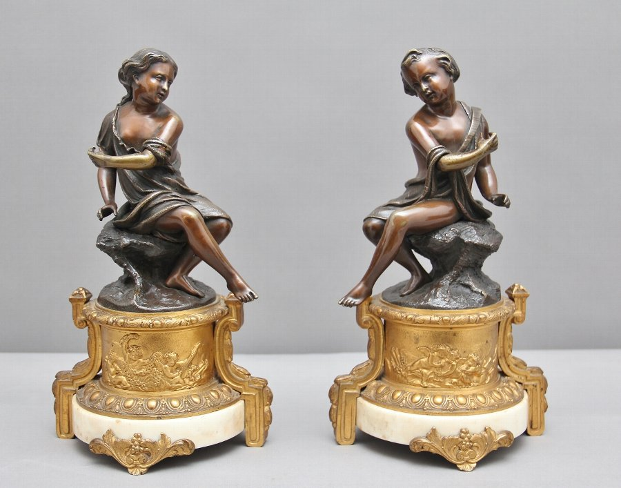Pair of 19th Century French bronzes