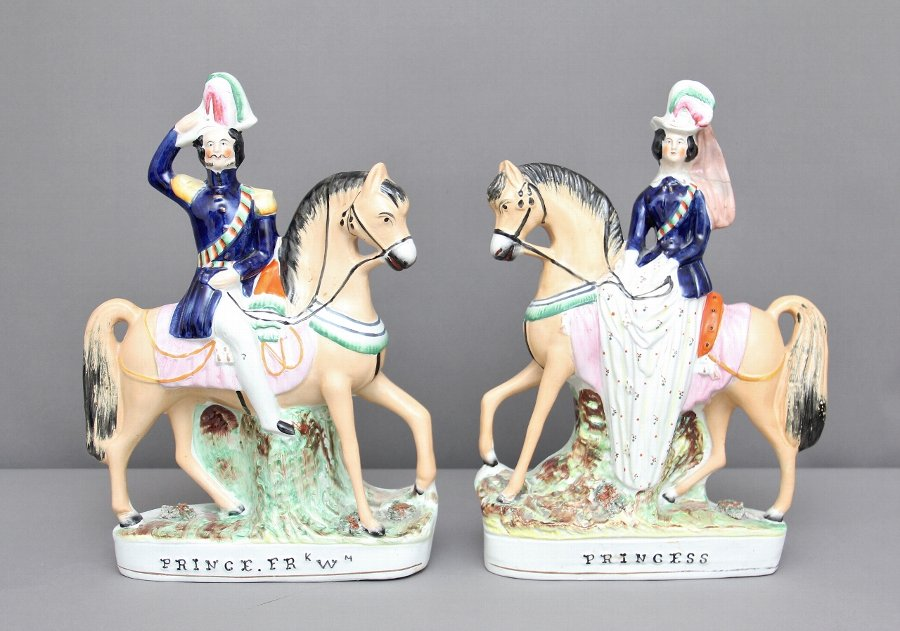 Pair of 19th Century Staffordshire figures