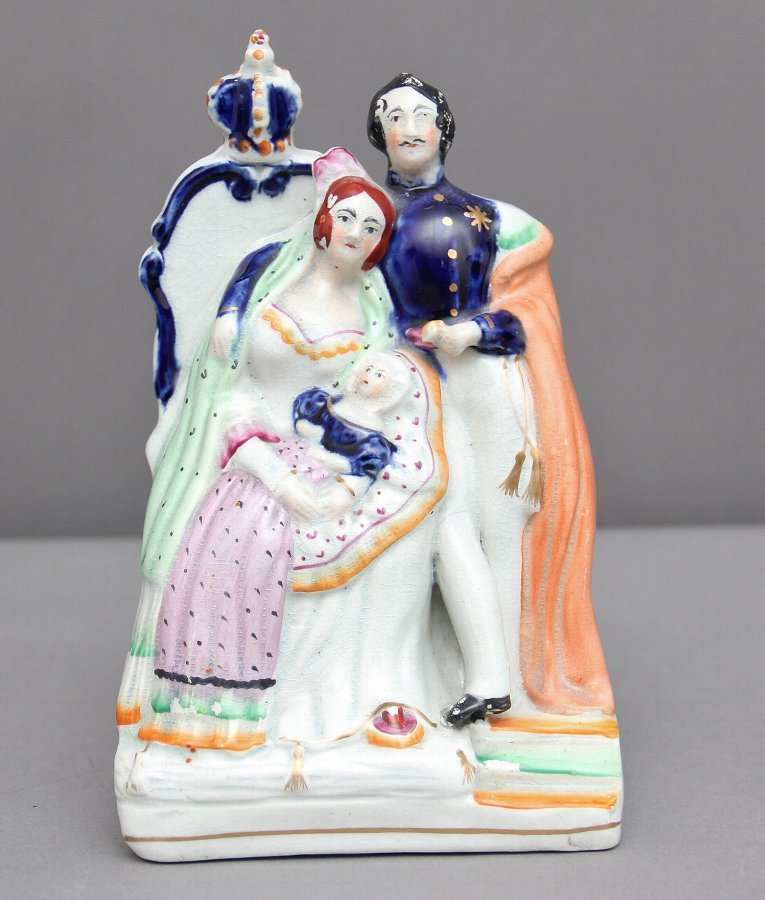 19th Century Staffordshire figure of Queen Victoria and Prince Albert