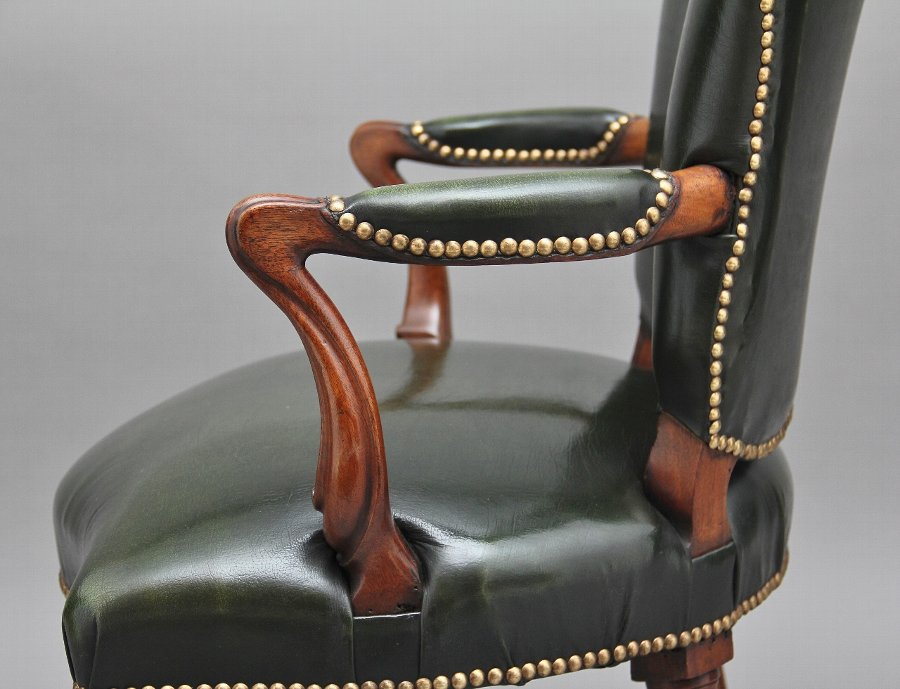 Antique 19th Century mahogany open armchair