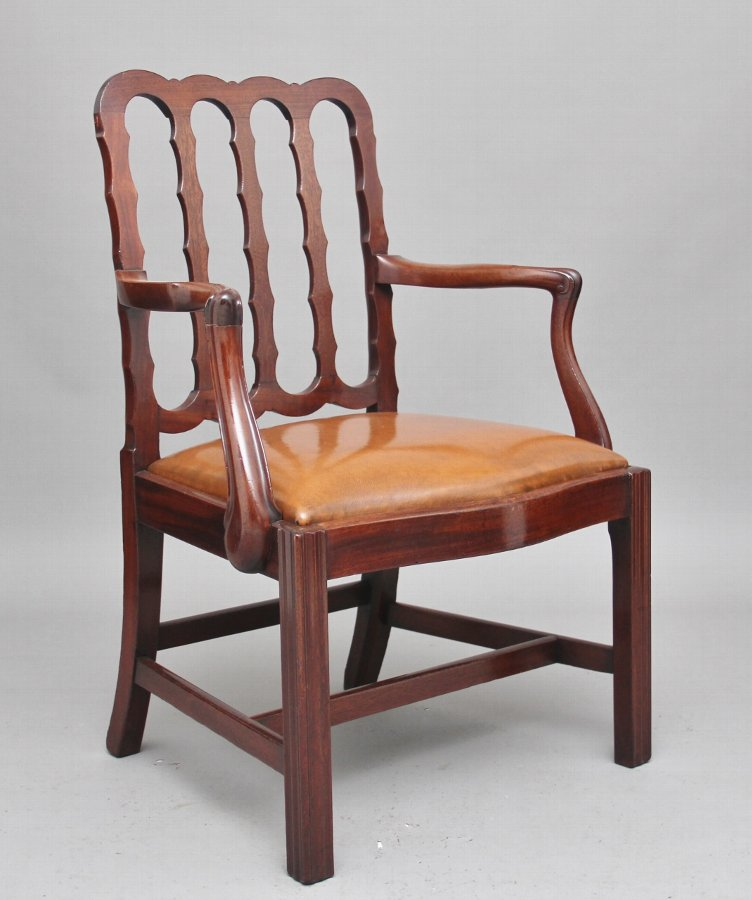 19th Century mahogany desk chair