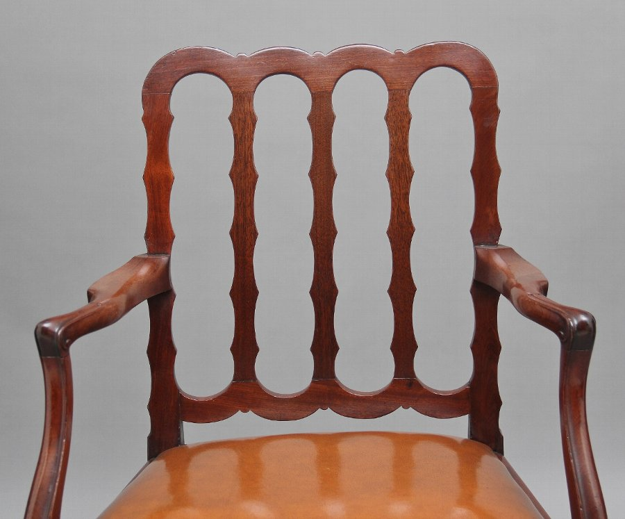 Antique 19th Century mahogany desk chair
