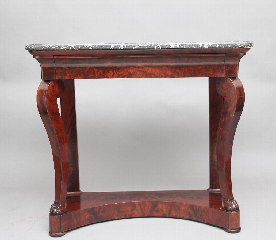 Early 19th Century mahogany and marble top console table